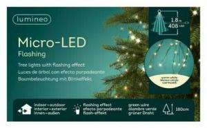 Guirlande - Micro-LED - Blanc chaud - 18 0 cm - Câble vert