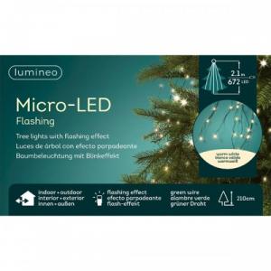 Guirlande - Micro-LED - Blanc chaud - 21 0 cm - Câble vert