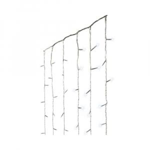 Guirlande rideau lumineux - Blanc froid - LED - 225x300 m - Câble transparent