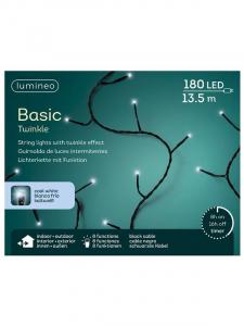Guirlande lumineuse - Blanc froid - LED- 13,50 m - Câble noir