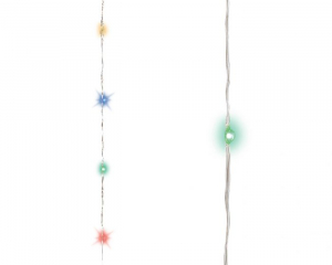 Guirlande multicolore - Micro-LED - 12 m  - Câble argent
