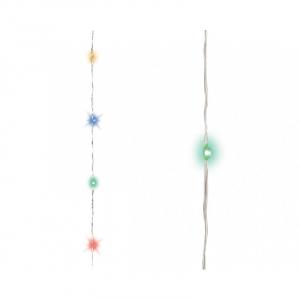 Guirlande multicolore - Micro-LED - 6 m- Câble argent