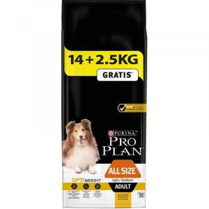 PRO PLAN Dog All sizes Adult Light/Sterilised -14 + 2,5 KG