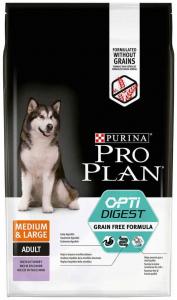Croquettes chien Formule sans céréales Medium & Large Adult - Pro Plan - Dinde - 7 kg