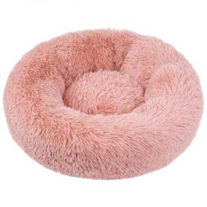 Corbeille ronde moelleuse Ø50 cm - Rose- Chat ou chien