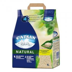 Litière agglomérante pour chat 8L - Catsan Natural