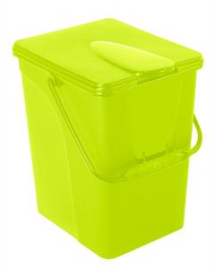 Seau à compost 14 litres - couleur vert anis - Bellijardin