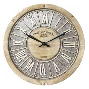 Horloge antique - Bois et gris