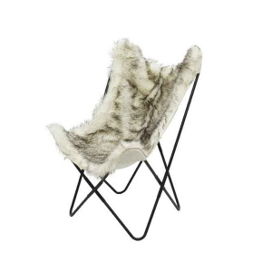 Chaise papillon - Fourrure