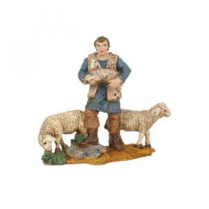 Figurine Berger et mouton 10cm.Oliver