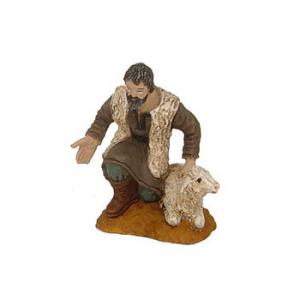 Figurine Berger avec mouton ad. 10cm./Sachet