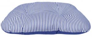 Coussin ovale taille 95x70x13 - Ecoresponsable - Bleu