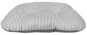Coussin ovale taille 75x50x11 - Ecoresponsable - Gris