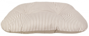 Coussin ovale taille 85x55x12 - Ecoresponsable - Taupe