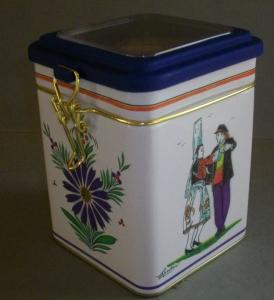 Galettes bretonnes - petite boîte à fenêtre carrée - Les galettes de Belle Isle - 180 gr
