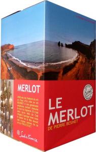 Vin de pays d'Oc - Merlot de Pierre Bésinet - Rouge - Bagin Box de 10 litres