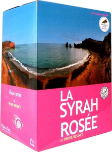 Vin Syrah rosé de Pierre Besinet - Pays d'Oc - Bag in Box 5 litres