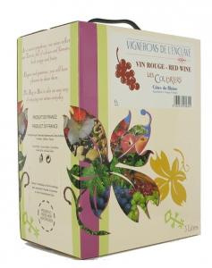 Vin Côtes du Rhône les Coudriers - Rouge -  Bag in Box de 5 litres