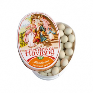 Les anis de Flavigny - Mandarine - Bio - boite ovale de 50 grammes