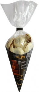 Cornet chocolat blanc fourrage caramel - Maison Taillefer - 150 gr
