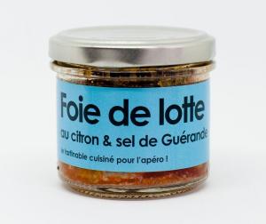 Rillettes Foie de lotte au citron & sel de Guérande - L'atelier du cuisinier - 80 g