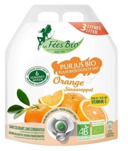 Pur jus d'orange bio en poche - Les fées bio - 3 L
