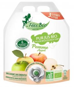 Jus de pommes bio en poche - Les fées bio - 3 L