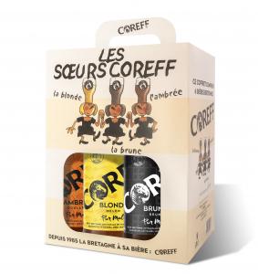 Coffret Les Sœurs Coreff (Blonde, Brune et Ambrée) - COREFF - 6 x 33 cl