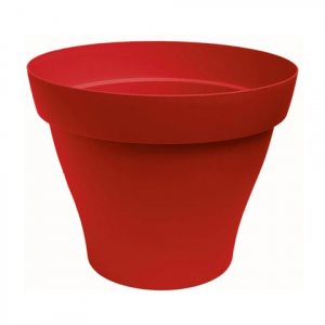Pot rond Roméo - Poetic - rouge -  25 cm