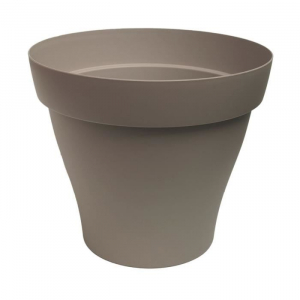 Pot rond Roméo - Poetic - taupe -  25 cm