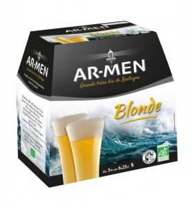 Pack Bière blonde Bio - AR-MEN - 5° - 6 x 25 cl