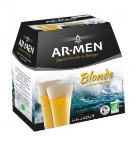 Pack Bière blonde Bio - AR-MEN - 5° - 6 x 25 cl