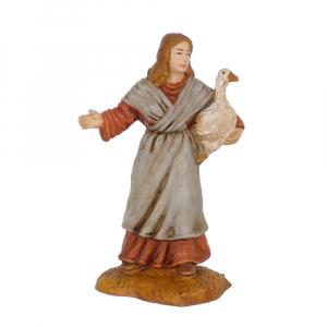 Figurine Femme avec oie 10cm. Oliver