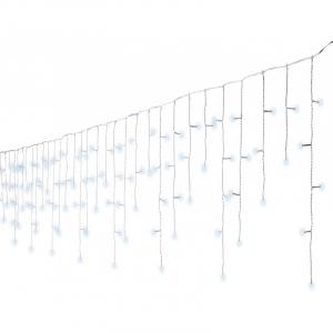 Guirlande stalactites - LED - Blanc/blan c froid - 20 m