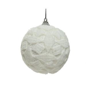 Boule à dentelle - En mousse - Pailettes - 12 unités - Ø 8 cm