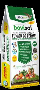 Fertilisant complet granulé aux fumiers de ferme - Bovisol - 20 kg