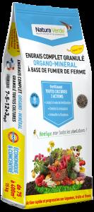 Engrais complet granulé - Organo minéral - 7/5/12 + 3Mgo - Natura Verde