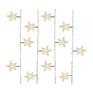 Guirlande lumineuse - Etoile - LED - Blanc chaud - 4 m - Câble transparent