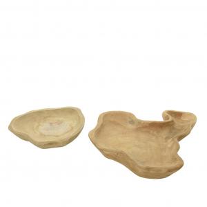 Assiette teck - Naturel - Ø 50 cm