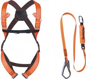 Kit antichute toit ELARA190 - Delta Plus - Prêt à l'emploi - orange