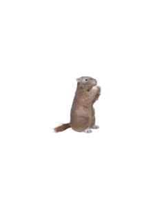 Marmotte en mousse - Debout - Fourrure brune pailleté  - 24 cm