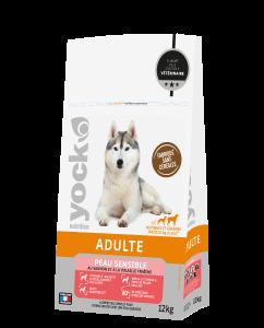 Croquettes sans céréales Peau sensible chien adulte - Yock Nutrition