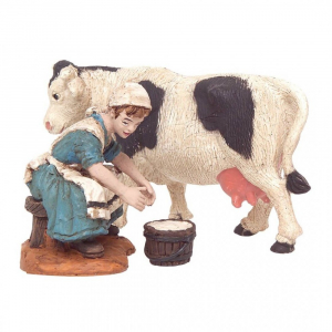 Figurine Femme trayant une vache Oliver