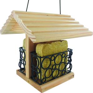 Mangeoire bar à graisse en pin à suspendre - En pin Douglas - 20,5 X19,5 X 20 cm