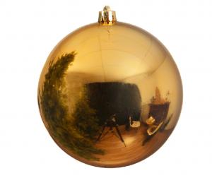 Boule de Noël - Or clair - En plastique- Brillante - Ø 20 cm