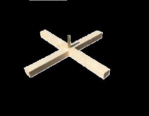 Croix pied de sapin percé - Ø39 cm
