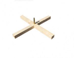 Croix pied de sapin percé - Ø59cm