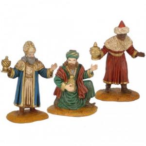 Figurine Rois Mages adoration 10 cm.