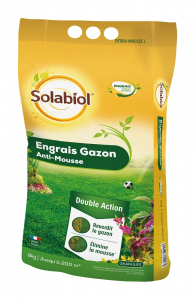 Engrais gazon anti-mousse - Solabiol - 200 m² - 8 kg
