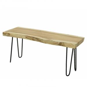 Banc en bois - 98x35x40 cm